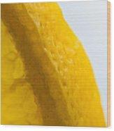 Portrait Of The Edge Of A Lemon Wood Print