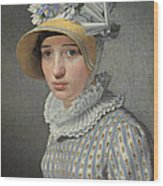 Portrait Of The Model Maddalena Or Anna Maria Uhden Wood Print