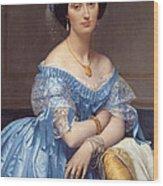 Portrait Of The Princesse De Broglie Wood Print