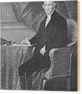 Portrait Of Thomas Jefferson Wood Print