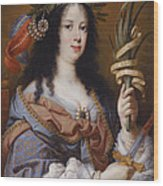 Portrait Of Vittoria Della Rovere As Saint Vittoria Wood Print