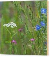 Portrait Of Wildflowers Wood Print