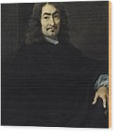 Portrait Presumed To Be Rene Descartes Wood Print