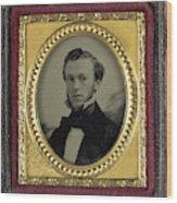 Portrait Young Man, Isaac A. Rehn Wood Print