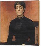 Portrat Of Jelizaveta Wood Print