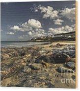 Portscatho Beach  Wood Print