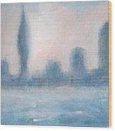 Portsmouth Dawn Part Three Wood Print by Alan Daysh