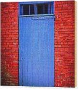 Portsmouth Door 6 Wood Print