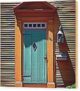 Portsmouth Door 8 Wood Print