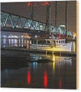 Portsmouth Harbor Boats 2 Wood Print