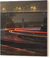 Portsmouth Harbor Bridge Wood Print