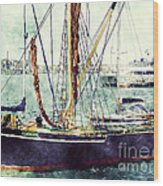 Portsmouth Harbour Boats Wood Print
