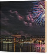 Portsmouth Nh Fireworks 2013 Wood Print
