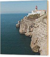 Portugal, Algarve, Sagres, Lighthouse Wood Print