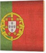 Portugal Flag Vintage Distressed Finish Wood Print