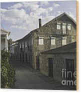 Portugal Small Town Wood Print