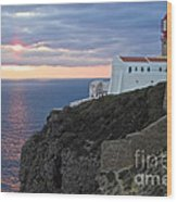 Portuguese Lands End  Wood Print