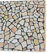 Portuguese Pavement Wood Print