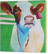 Posing Cow Wood Print