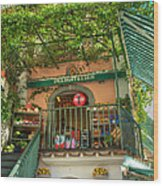 Positano Deli Wood Print by Bob and Nancy Kendrick
