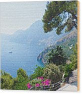 Positano Italy Amalfi Coast Delight Wood Print