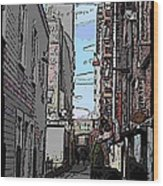 Post Alley 6 Wood Print