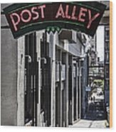 Post Alley Wood Print