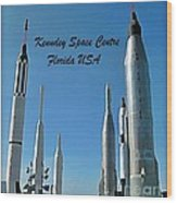Post Card Of The Kennedy Space Centre Florida Wood Print