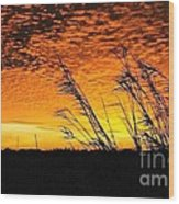 Post Hurricane Rita Clouds At Dockside In Beaumont Texas Usa Wood Print