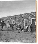 Post Office In Ganado, Arizona Wood Print
