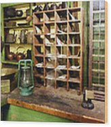 Post Office In General Store Wood Print