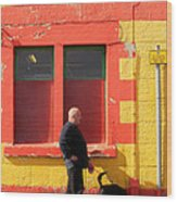 Post Office Tobermory No Stopping Wood Print