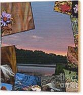 Postcard Autumn Memories Wood Print