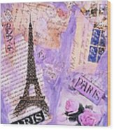 Postcard From Paris Wood Print
