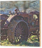 Postcard From The Past Wood Print by Kathy Jennings