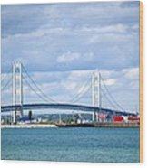 Postcard Of Mackinaw City Wood Print