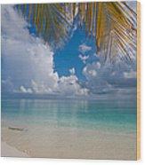 Postcard Perfection. Maldives Wood Print