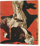 Poster Advertising A Performance Of Tosca Wood Print