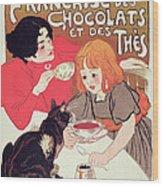 Poster Advertising The Compagnie Francaise Des Chocolats Et Des Thes Wood Print