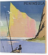 Poster Advertising The Gaspe Peninsula Quebec Canada Wood Print