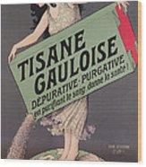 Poster Advertising Tisane Gauloise Wood Print