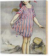Poster Banque De Paris Wood Print
