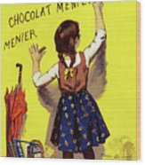 Poster Chocolate, 1893 Wood Print