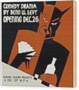 Poster For The Play The Devil Passes Wood Print