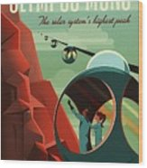 Poster For Tours Of Olympus Mons Wood Print
