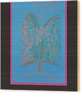 Poster - Light Blue Patio Wood Print by Marcia Meade
