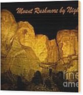 Poster Of Mount Rushmore Wood Print