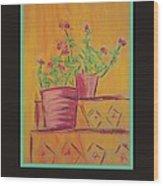 Poster - Orange Geranium Wood Print by Marcia Meade