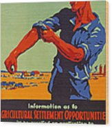 Poster Promoting Emigration To Canada Wood Print