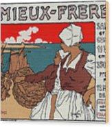 Poster Sardines, 1899 Wood Print